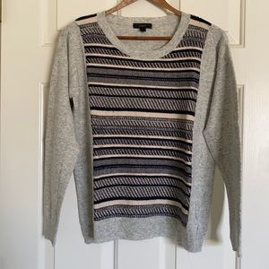 J Crew Knit Panel Sweater